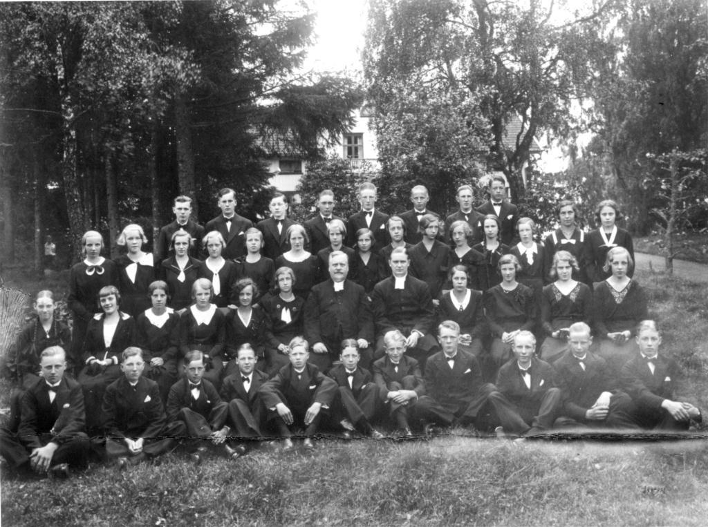 Konfirmation Gällstad 1934