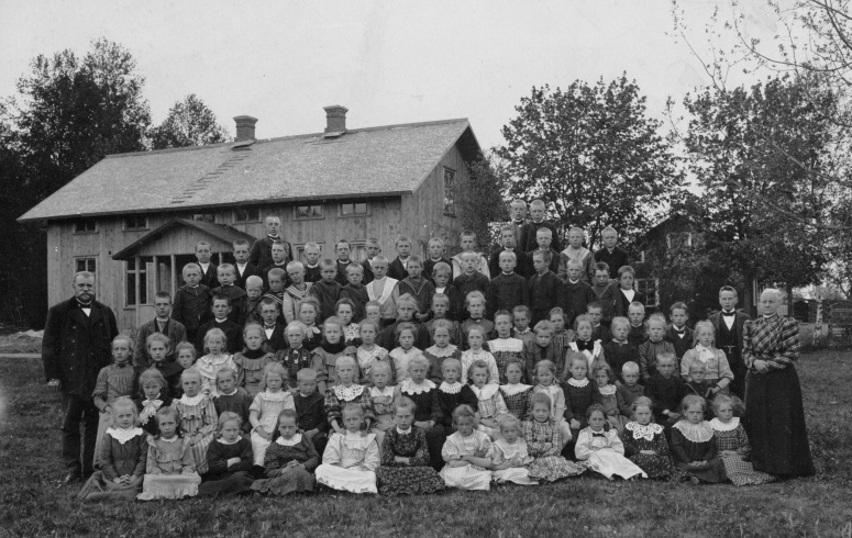 Säms skola 1907, bild, kompr. beskuren