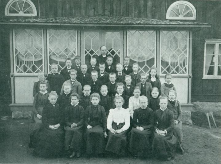 Konfirmation, Bondegärde Gällstad 1902, Judith Andersson, bild