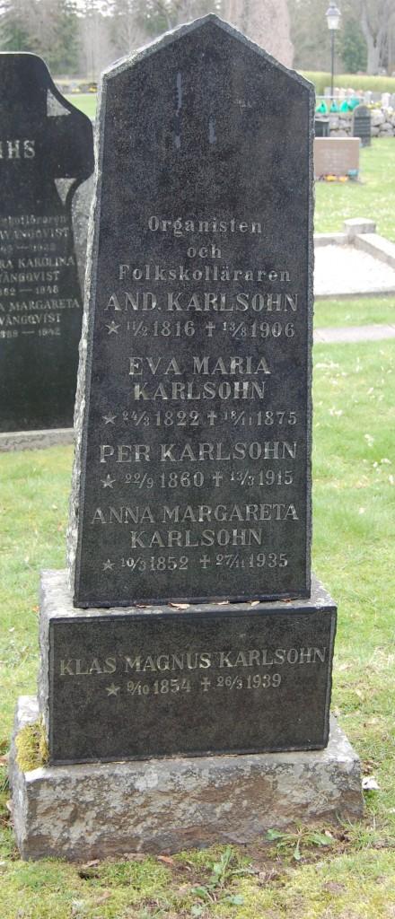 Andreas Karlsohn,organist,  Eva Maria och barnen