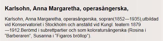 Anna Karlsohn, operasångerska, 2