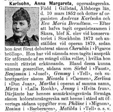 Anna Karlsohn, operasångerska, 3