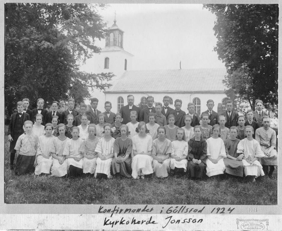 Konfirmander i Gällstad 1924, bild, redig.