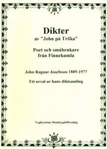 Dikter av John på Tröka, framsida av boken