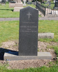 Anna Nilsson, 1885-1917, småskolelärarinna, södra säm