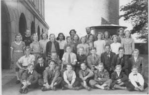 Säms skola 1950 Skolresa. klass 5-7, födda 1936-1938, bild