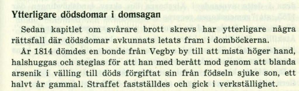 Bonde från Vegby, dömd 1814, text från Då häradsting hölls...