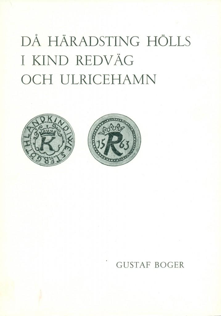 Då Häradsting hölls, Gustaf Boger, framsida