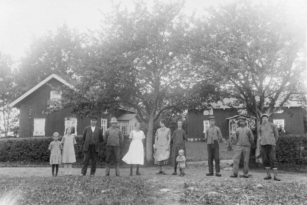 Målbergs familj på Ågården, omkring 1928