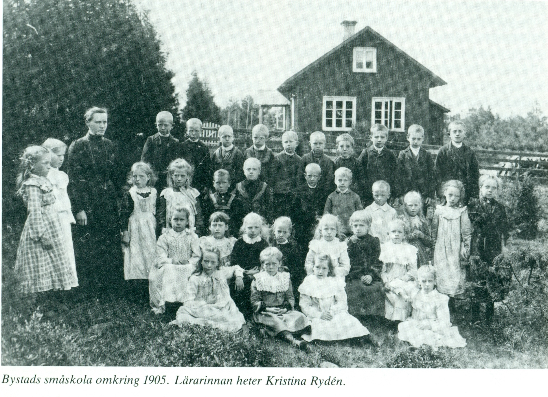 Bystads småskola omkring 1905